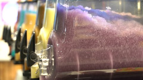 Slush Making Machines for preparation Slushy Smoothie in the store