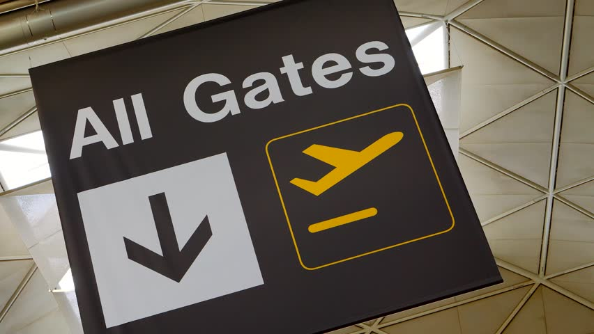 Airport All Gates Sign