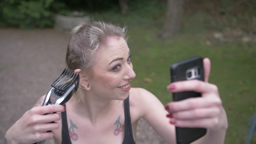 Consider, that video of woman getting head shaved apologise, but
