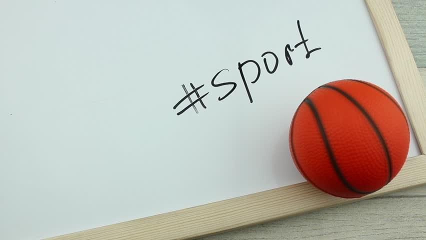 Hashtag sport and basketball ball | Shutterstock HD Video #1008900278