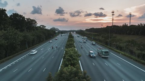 10 Seconds Sunset Timelapse on Jalan Kayu Bridge of Singapore