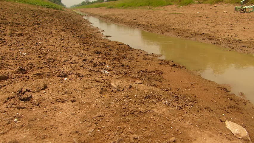 The shortage of water for agriculture.   Shutterstock HD Video #1008971258