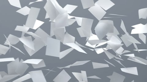 flying sheets of white paper