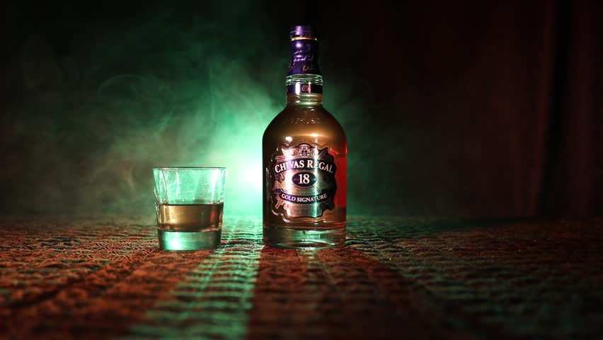 709cf5314 BAKU, AZERBAIJAN – MARCH 25, 2018: Blended from whiskies matured for at  least 18 years, Chivas Regal 18 Gold Signature is a blended Scotch whisky  produced ...