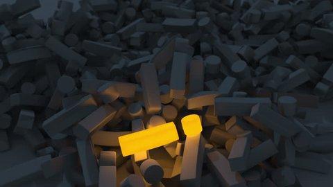 Exclamation Marks Dynamic Animation 4K , Falling of exclamation marks, luminous exclamation mark