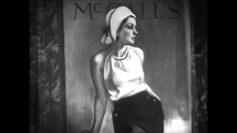 CIRCA 1930s - McCall's Magazine opens to a story by Beatrice Burton Morgan and the characters come to life in 1935.