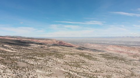 Diagonal descent filmed by a drone near the Colorado National Monument.