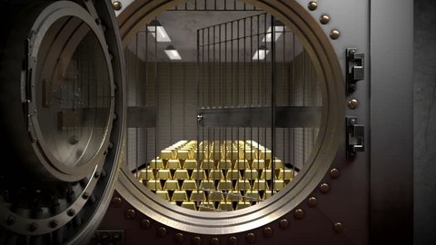 3D-animation with the image of the gold vault.