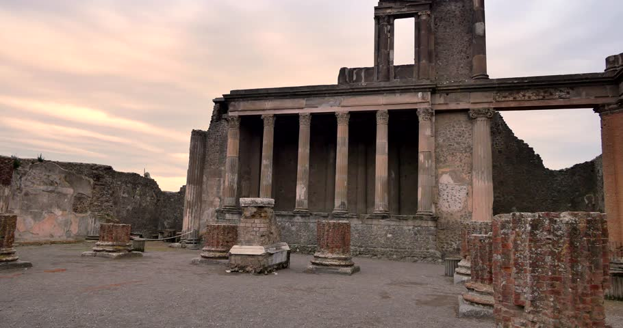 Ruins of Pompei, Italy. Archeological park near Naples. | Shutterstock HD Video #1009375508