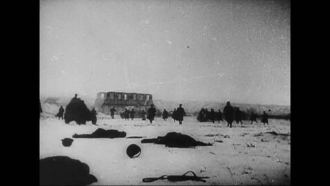 CIRCA 1942 - In the winter months, Allied armies were pushing back the Germans in North Africa and Europe.