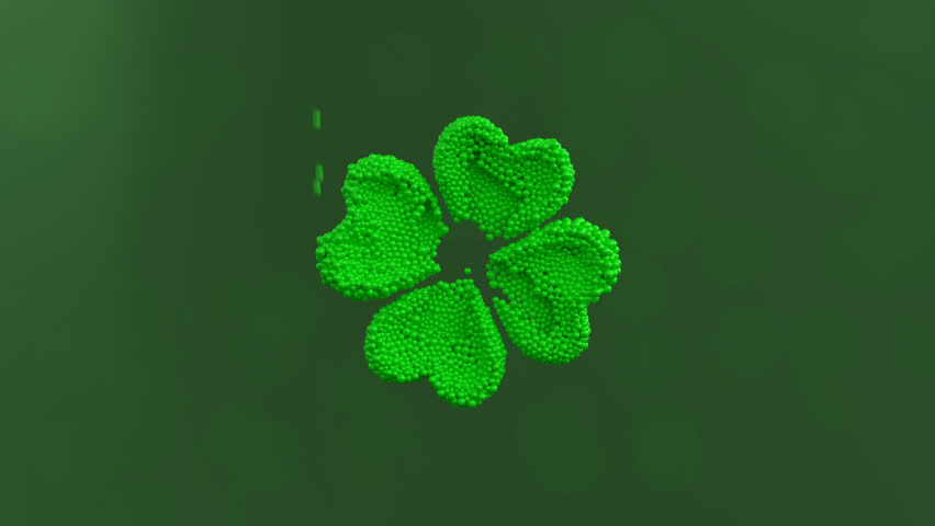 Clover animation with alpha. St. Patrick's day.