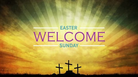 Easter Sunday Church Welcome Background