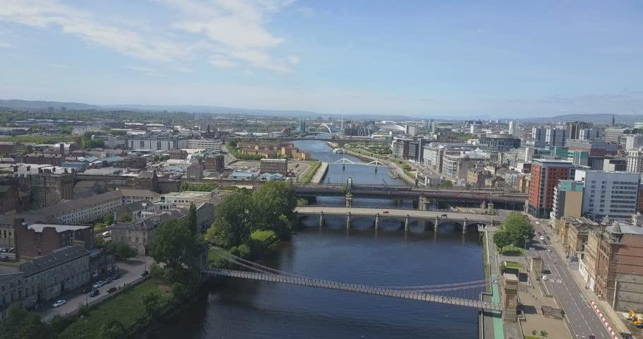 7e400d515044 Video stock a tema Glasgow City Skyline