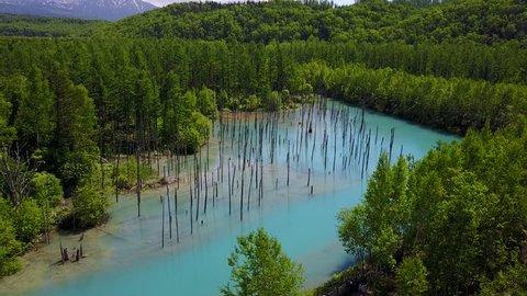 Hokkaido Drone Beauty Biei Blue water