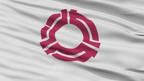 Yaizu close up flag, Shizuoka prefecture, realistic animation seamless loop - 10 seconds long
