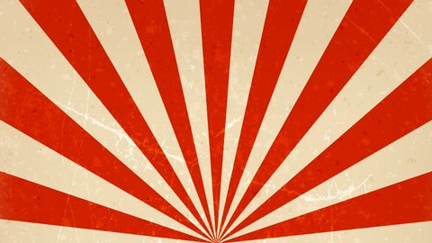 Circus carnival Background Rotation Loop/ Animation of an abstract vintage and retro circus background rotating, with sunbeams an stripes