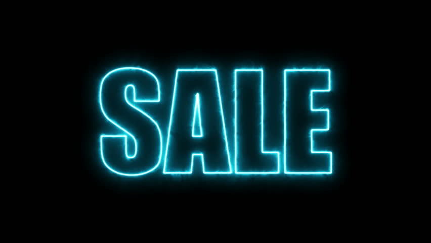 Letters of Sale text on black, 3d render background, computer generating for trading   Shutterstock HD Video #1009997768