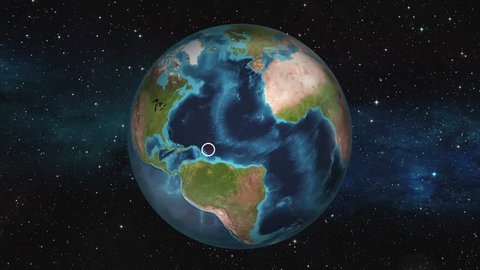 Earth Zoom In Map - Kingstown