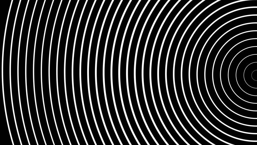 Circle of radiating the pulsed white waves | Shutterstock HD Video #1010028008