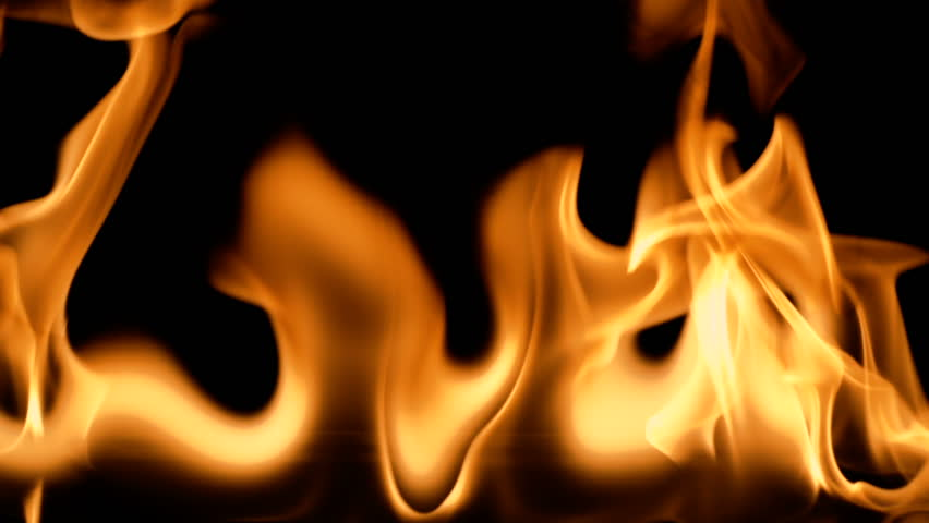 Fire flames abstract on black background. slow motion | Shutterstock HD Video #1010077868