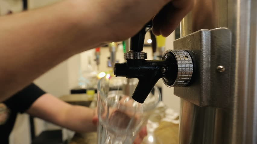 Barman pouring sparkling water in restaurant, hydrating beverage, water balance | Shutterstock HD Video #1010109368