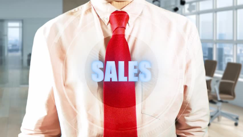 SALES Businessman touching a visual screen in light office. Hologramic Technology. Augmented reality. Concept of futuristic 4k footage   Shutterstock HD Video #1010183258