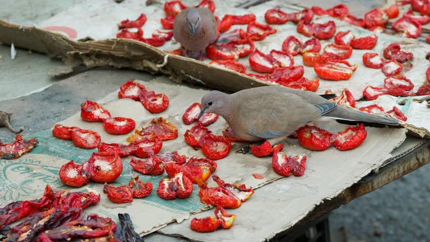 Dried food in open market in ohs bazaar Kyrgyzstan