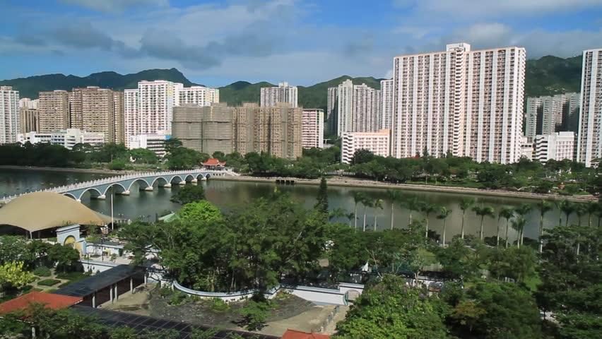 Pan over Hong-Kong high-risers | Shutterstock HD Video #1010308088