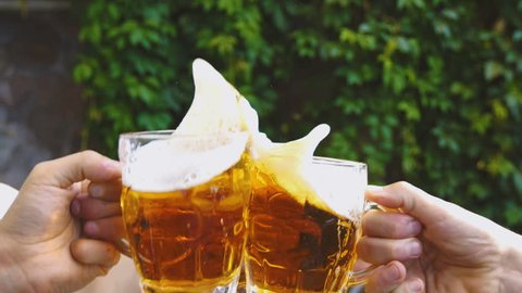 Slow Motion beer toast