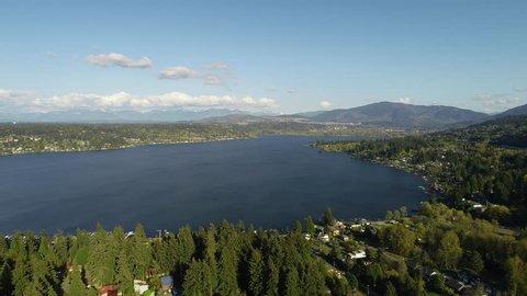 Lake Sammamish Bellevue Washington Aerial