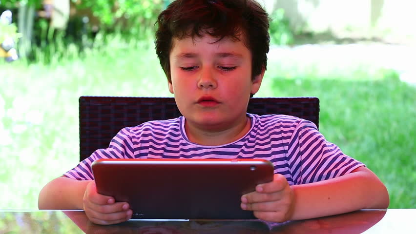 Little cute child leisure time with digital tablet | Shutterstock HD Video #10104128