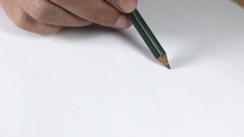 Shading with a pencil. shade on white paper video