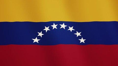 Venezuela flag waving animation. Full Screen. Symbol of the country.