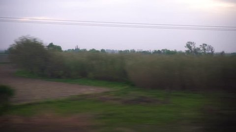 Window View from Train, Car or Bus, 4k video 3840X2160, No Color Correction -  No 123