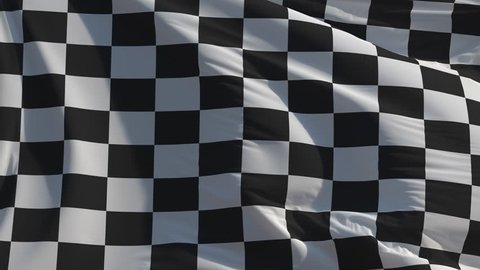 Checkered flag: seamless loop animation (full screen, 4K)