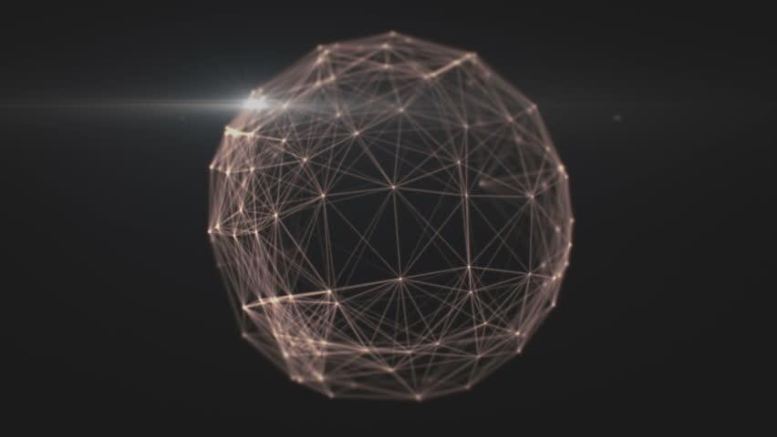 Connected network sphere seamless loop  | Shutterstock HD Video #1010635838