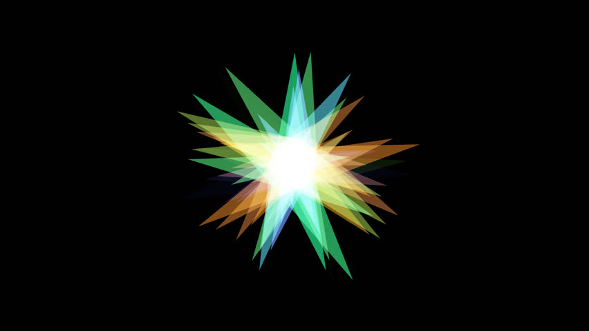 Moving star with transparent bakground