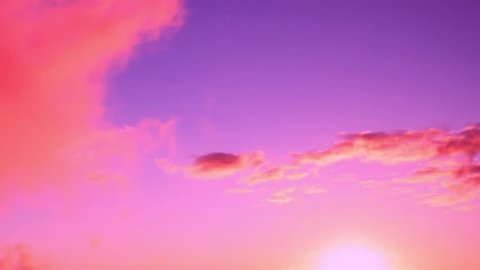 A time lapse of the large orange sunset as the massive sun sets into the horizon above the ocean, Sunset sky clouds. Sunset sky background. Sunset sky orange. 4K.