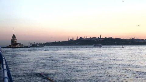 bosporus from uskudar istanbul, maiden's tower
