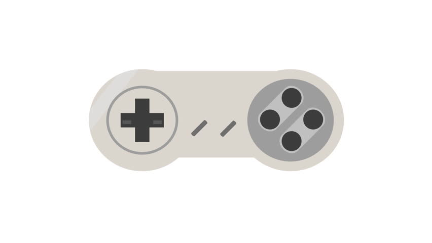 Retro video game controller animation with a white background | Shutterstock HD Video #1010795768