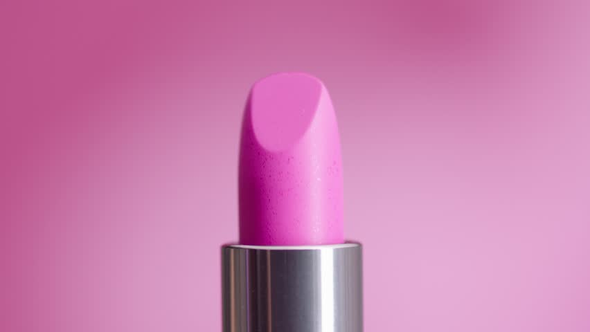 lipstick on a pink background