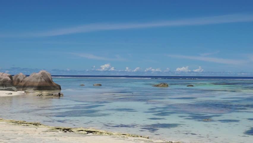 Cape Cod Low Tide Part - 26: Anse Source Du0027argent Beachon La Digue Seychelles - HD Stock Footage Clip