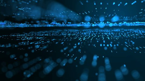 Futuristic abstract concept. Motion graphic for abstract data center, server, internet, speed.Blue light streaks. 4K resolution.