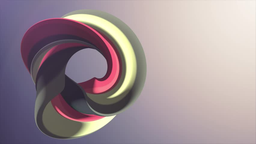 Soft colors 3D curved rainbow donut marshmallow candy seamless loop abstract shape animation background new quality universal motion dynamic animated colorful joyful video footage