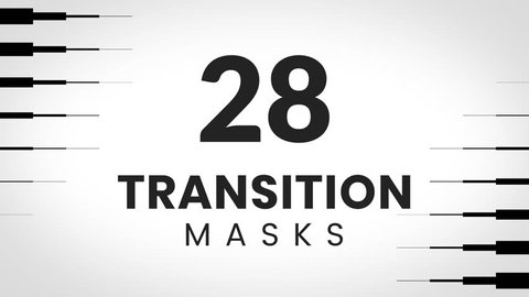 28 Transition mask templates. Unlimited combinations. Perfect set for creative slideshow or business presentation.