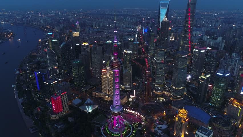 Shanghai Aerial View | Shutterstock HD Video #1010967338