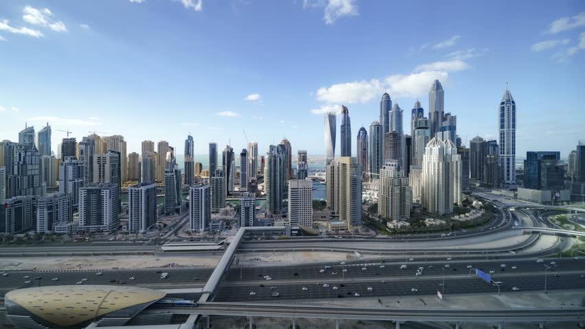 DUBAI Marina Timelapse | Shutterstock HD Video #1010967398
