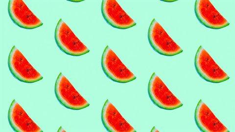 Fashion motion design art. Watermelon pattern