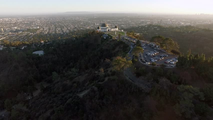 Los Angeles: Griffith Park & Observatory at Sunset (drone/aerial) | Shutterstock HD Video #1011106718