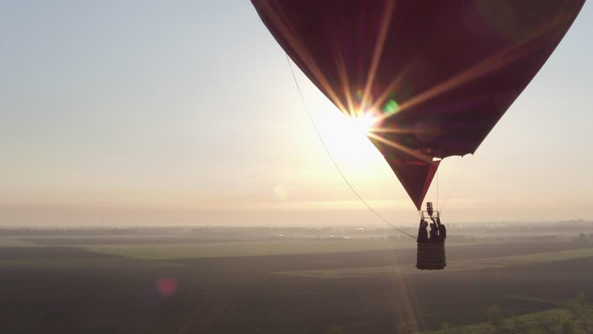 Balloon hot air helium sunset sunrise drone